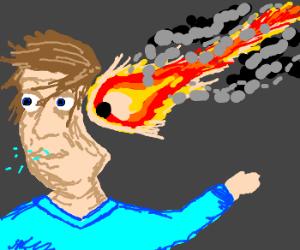 meteorite hit a guy