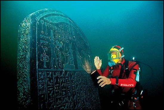 Heracleion: A City Discovered Under Water After 1500 Years.