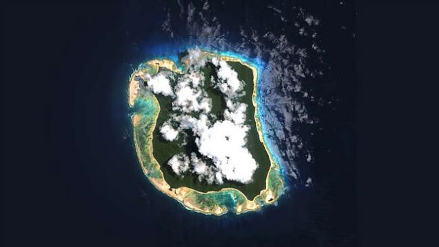 Google Earth image of North Sentinel Island
