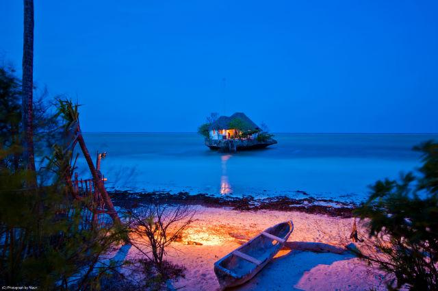 Beautiful view Of The Rock Restaurant, Zanzibar