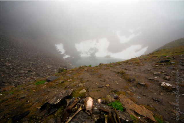 Roopkund during winters