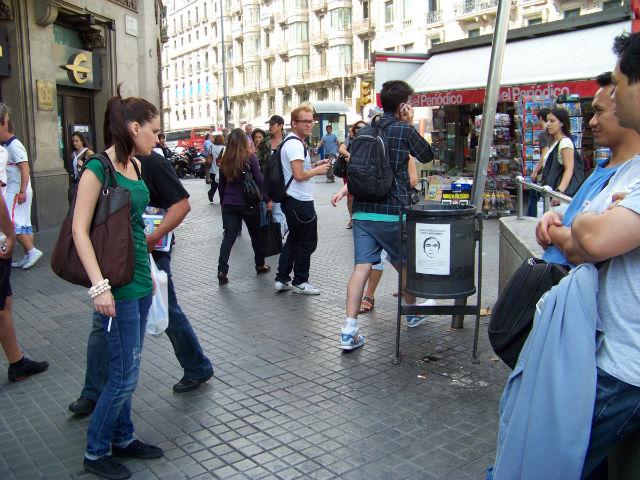 A flyer in Barcelona