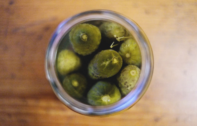drink a glass of brine from sauerkraut or sour pickles.