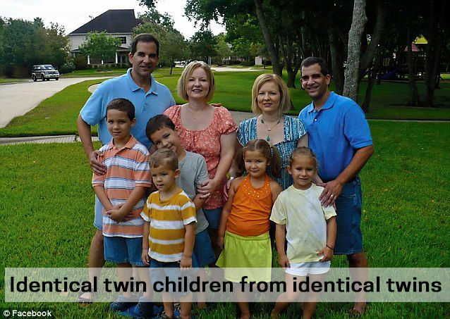 Identical twin children from identical twins