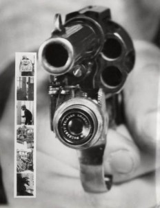 Revolver That Takes A Picture Right Before A Shot Is Fired
