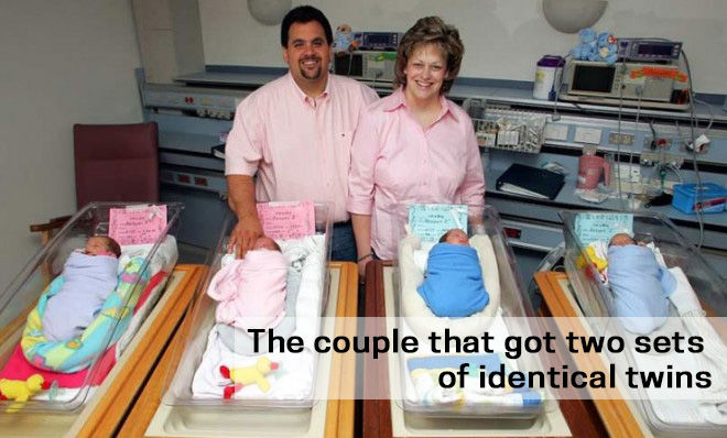 The couple that got two sets of identical twins