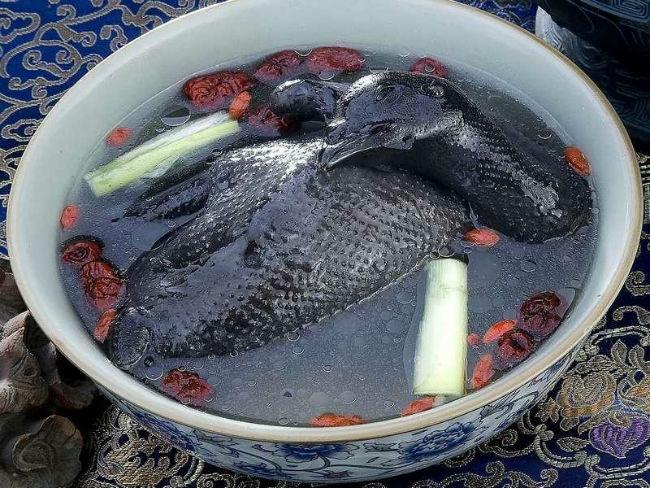 Boiled Black Chicken
