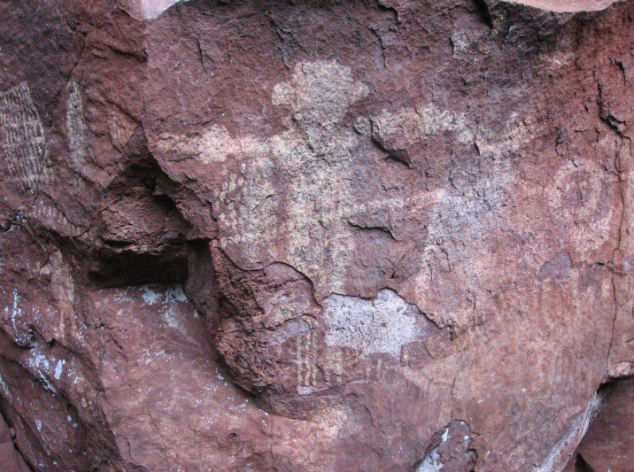 The drawings showed armadillos, birds and reptiles, as well as geometric figures, carved into sandstone