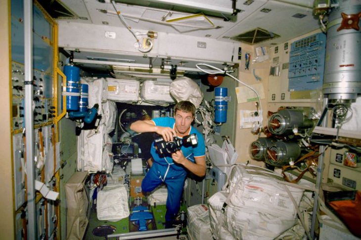 NASA Krikalev inside ISS