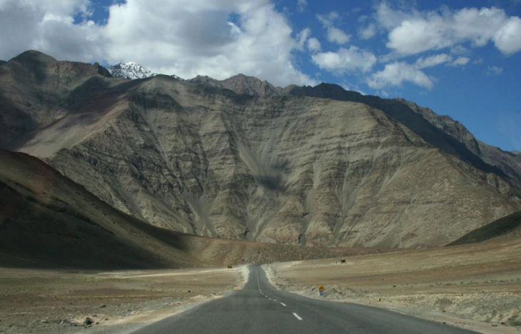 Magnetic Hill,  30 km away from Leh town.