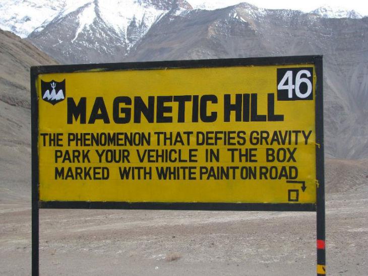 Magnetic hill, leh ladakh