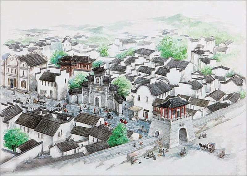 A restoration picture of Shicheng city in east China's Zhejiang Province.