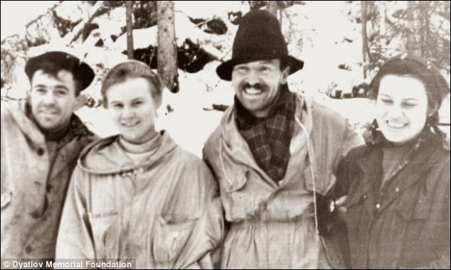 In 1959 there were 9 Russian Mountain Hikers found dead.