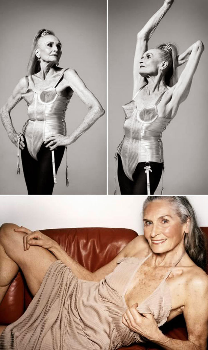 Super granny, 85, that models lingerie