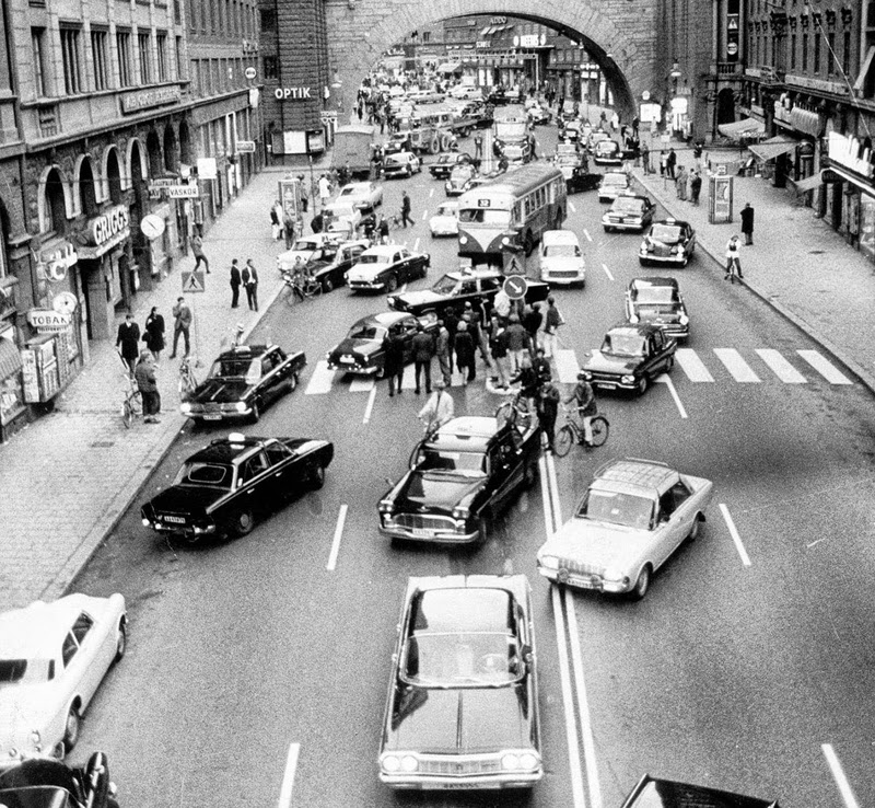 1967, when Sweden switched sides of the road