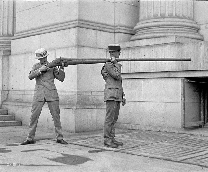 This punt gun was capable of discharging over a pound of shot at a time and could kill over 50 birds. This had a great negative effect on the birds and by the 1860s, it was banned in most states.