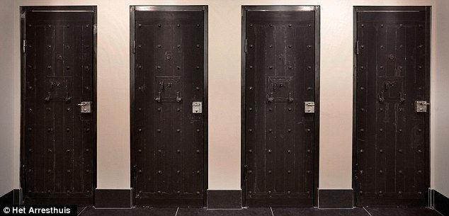 The original doors have been kept in place.