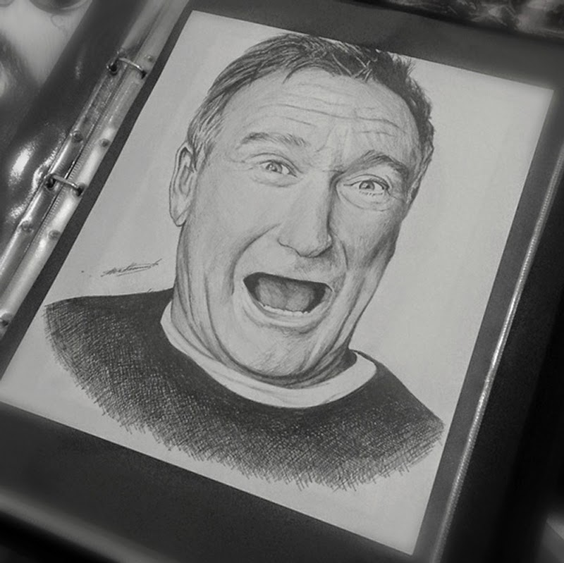 Potraits As Tribute To Robin Williams