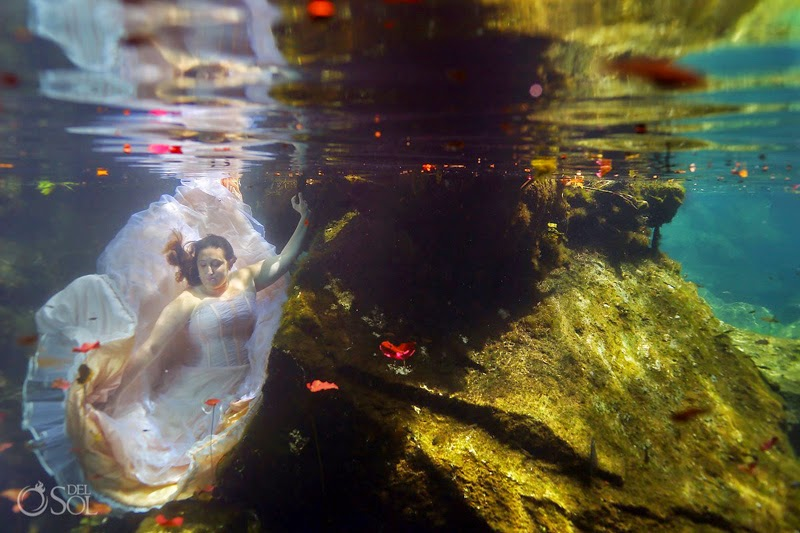 Underwater Photo shoot For Bride Who Lost Fiance Days Before Their Wedding