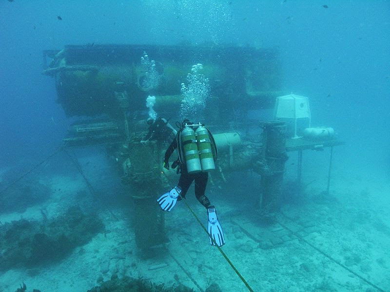 The NOAA Aquarius Reef Base, Florida Keys National Marine Sanctuary in Florida, USA.