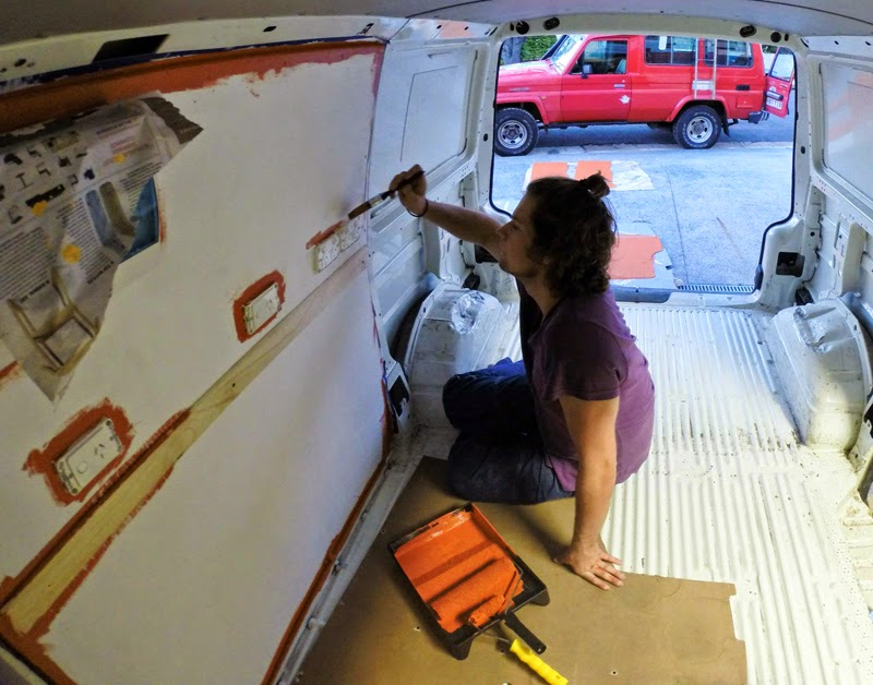 Painting the van