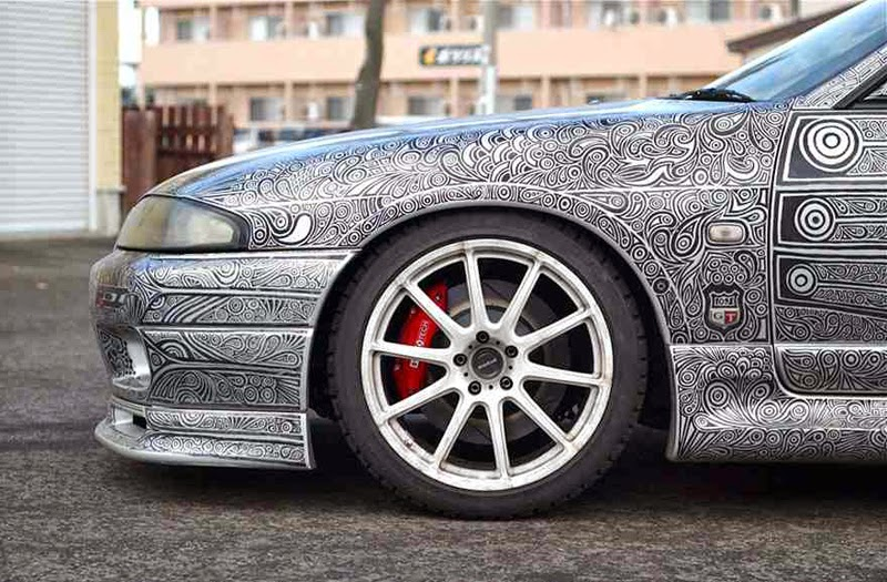 Incredible Transformation Of The Nissan Skyline From Doodling