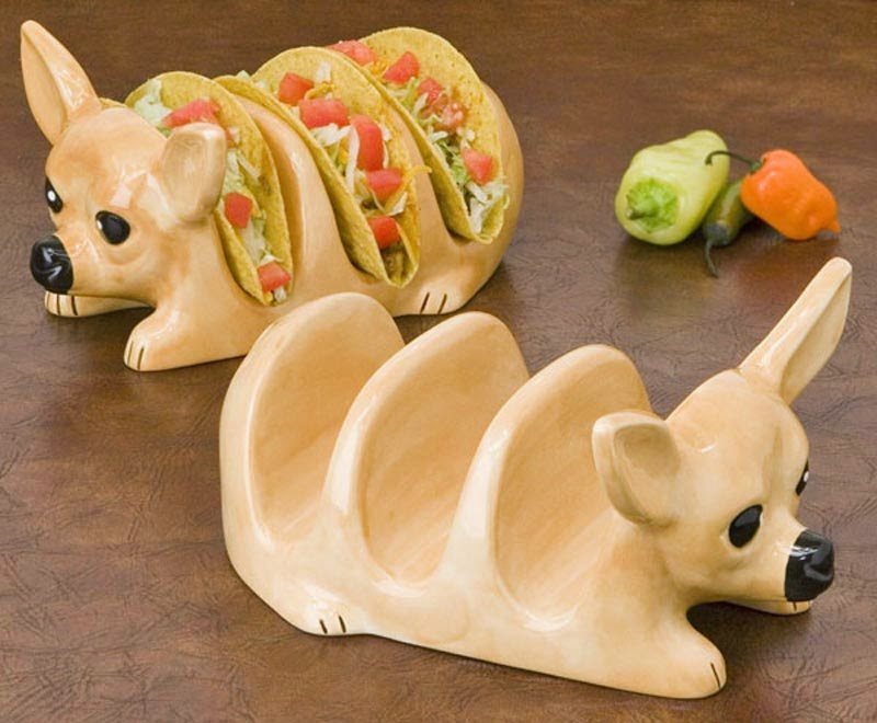 Chihuahua Taco Holder Plates.