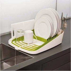 A Dish washing Rack that Drains into the Sink.
