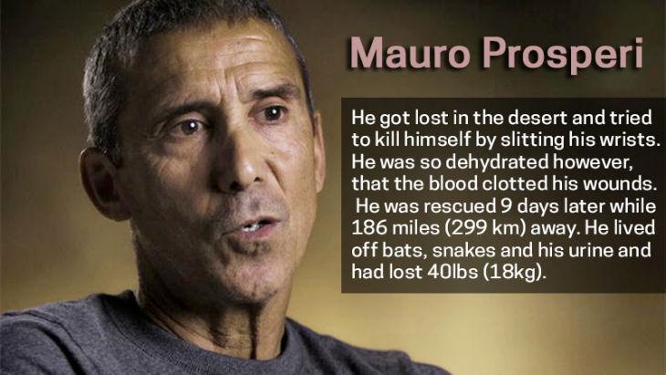 Survivor Mauro Prosperi