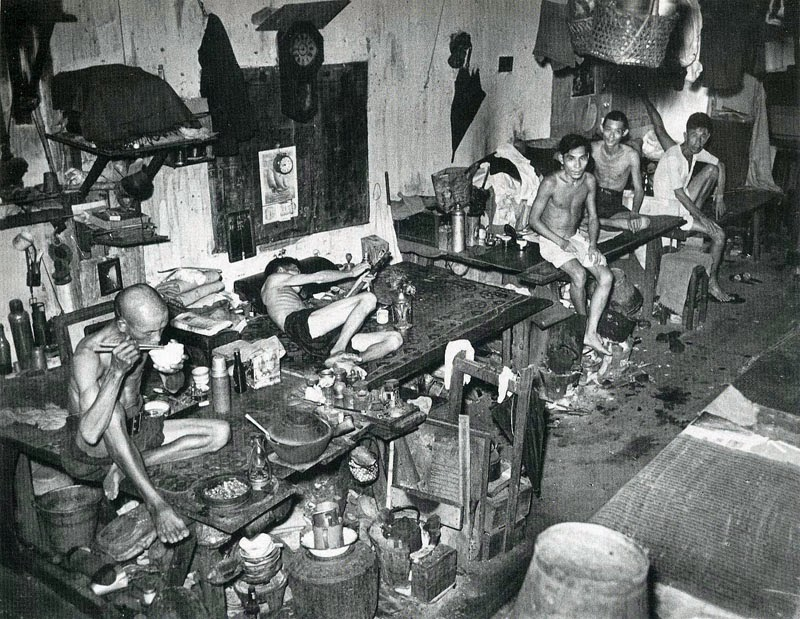 An Opium den in Singapore, 1941