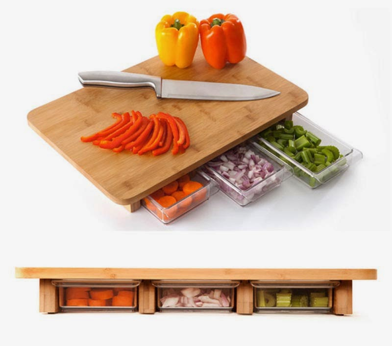 The One-Stop-Chop Cutting Board.