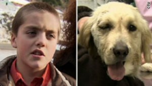 Family dog saves boy from a cougar attack