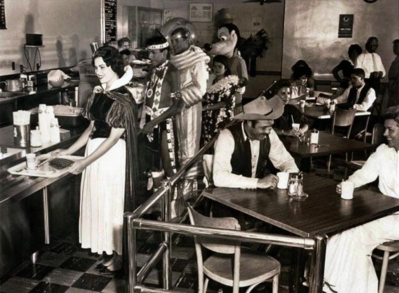 Disneyland Backstage cafeteria, 1961