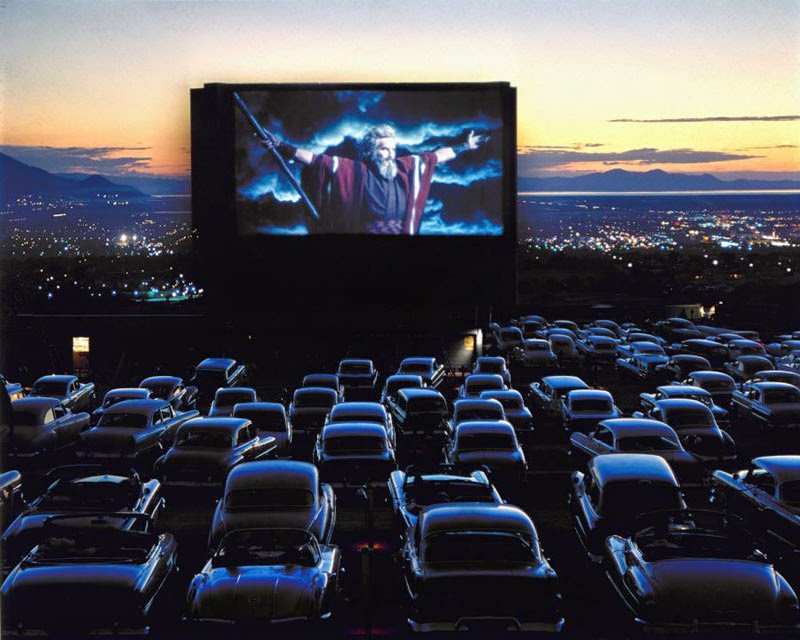 Drive in Theater in Utah, 1958