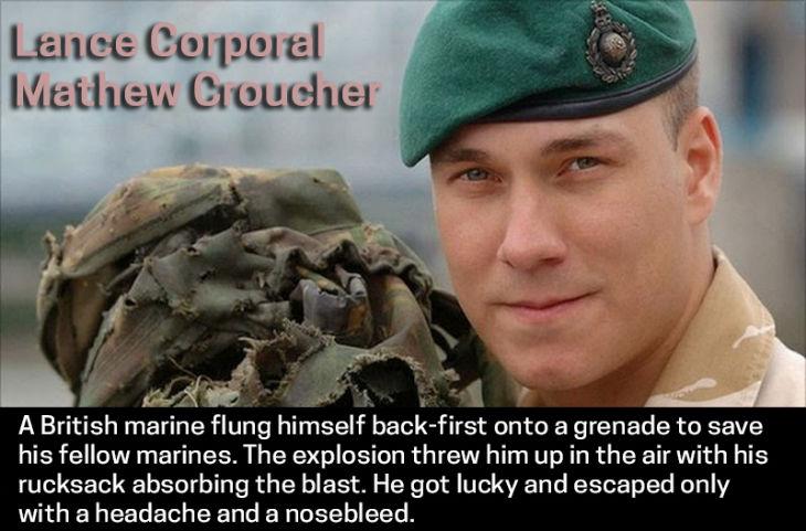 Survivor Lance Corporal Mathew Croucher