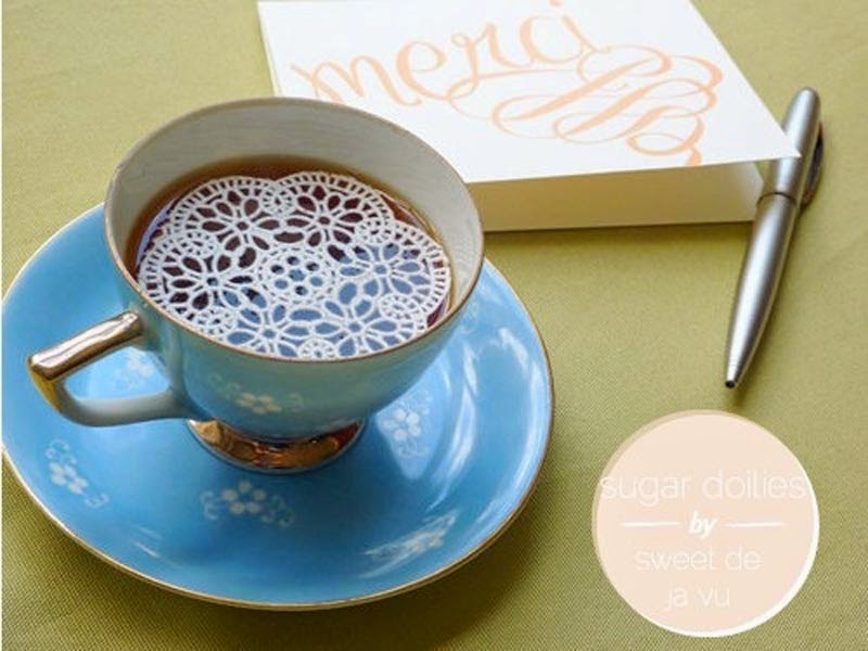 Sugar Doilies for Your Tea/Coffee