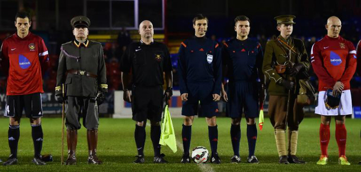 British, German soldiers play Christmas truce football match