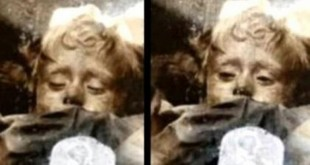 spooky mummified girl in Sicily