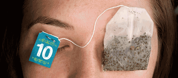Tea bags to rejuvenate eyes.