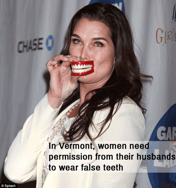 women banned from having false teeth