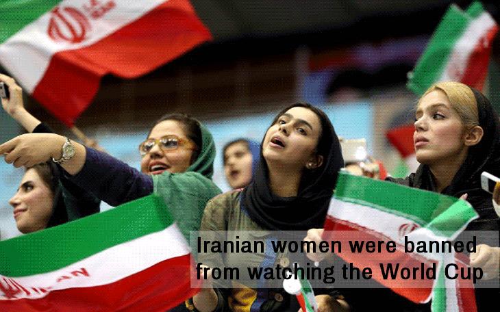 women not allowed to cheer football