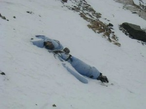 Body rolled off the mountain