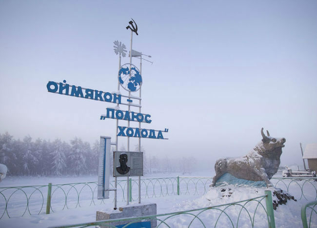 Oymyakon Sign Post