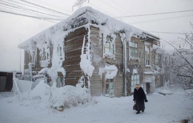 Frozen building.