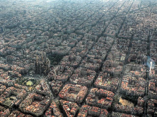 Sagrada Família Aerial view