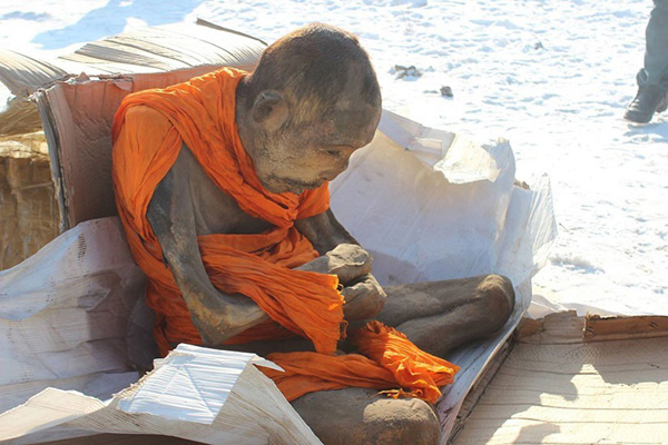 200-year-old mummified monk