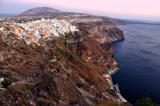 Santorini Aerial View