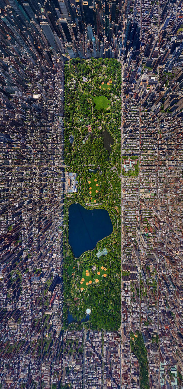 Central Park, NYC Aerial view