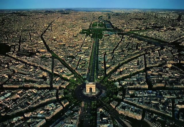Arc de Triomphe Aerial view