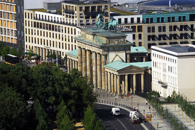 Brandenburg Gate Aerial View